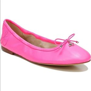 Sam Edelman Felicia Leather Hot Pink Ballet Flats